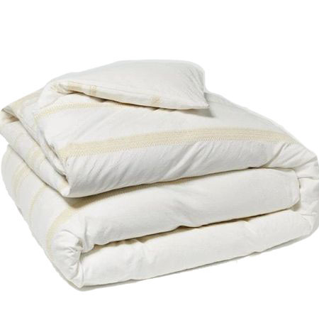 If you're looking for eco-conscious, vegan bedding, check out this organic cotton duvet cover from ethical marketplace Made Trade.