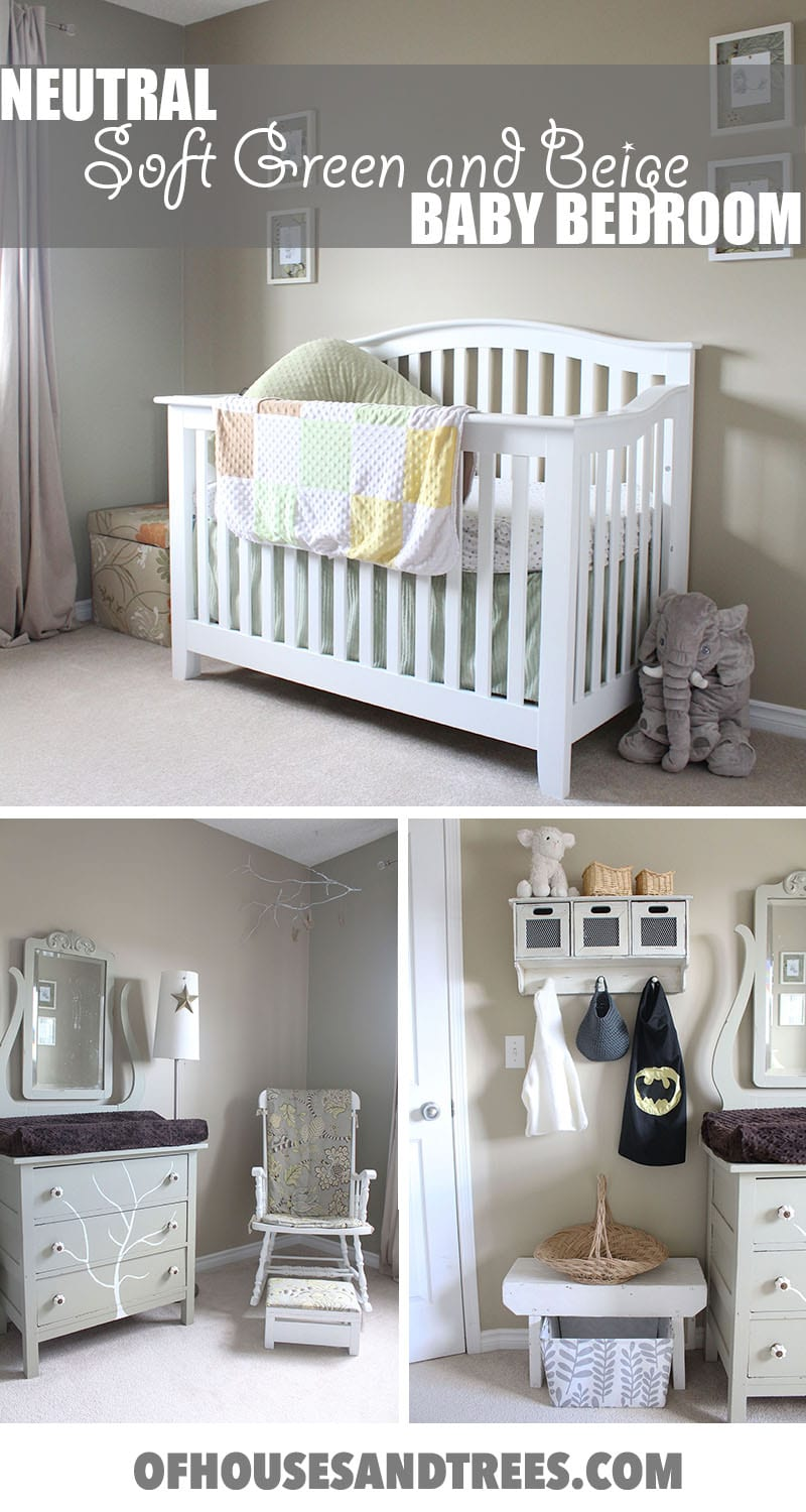 Neutral Baby Bedroom | A neutral baby bedroom using soft green and beige creates a soothing, relaxing space for both the baby - and the parents!