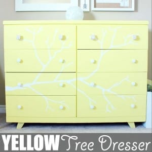 Yellow Tree Dresser by Of Houses and Trees | I have a thing for trees. And also tree dressers. Here's another tree dresser project I tackled. I think it looks pretty good if I say so myself!