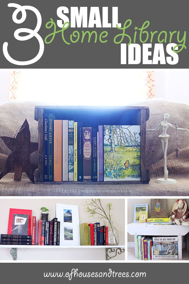 Small Home Library | Do you dream of a massive, multi-storied library? Me too! Do you have nowhere near the space? Me too. So try one of these small home library ideas instead.