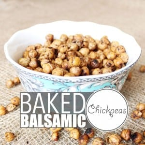 Baked Balsamic Chickpeas