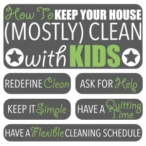 "Cleaning Tips by Of Houses and Trees | Have children? Find it impossible to keep your house clean? Me too! But I have figured out how to keep my home ""mostly clean."" Here are my cleaning tips!"