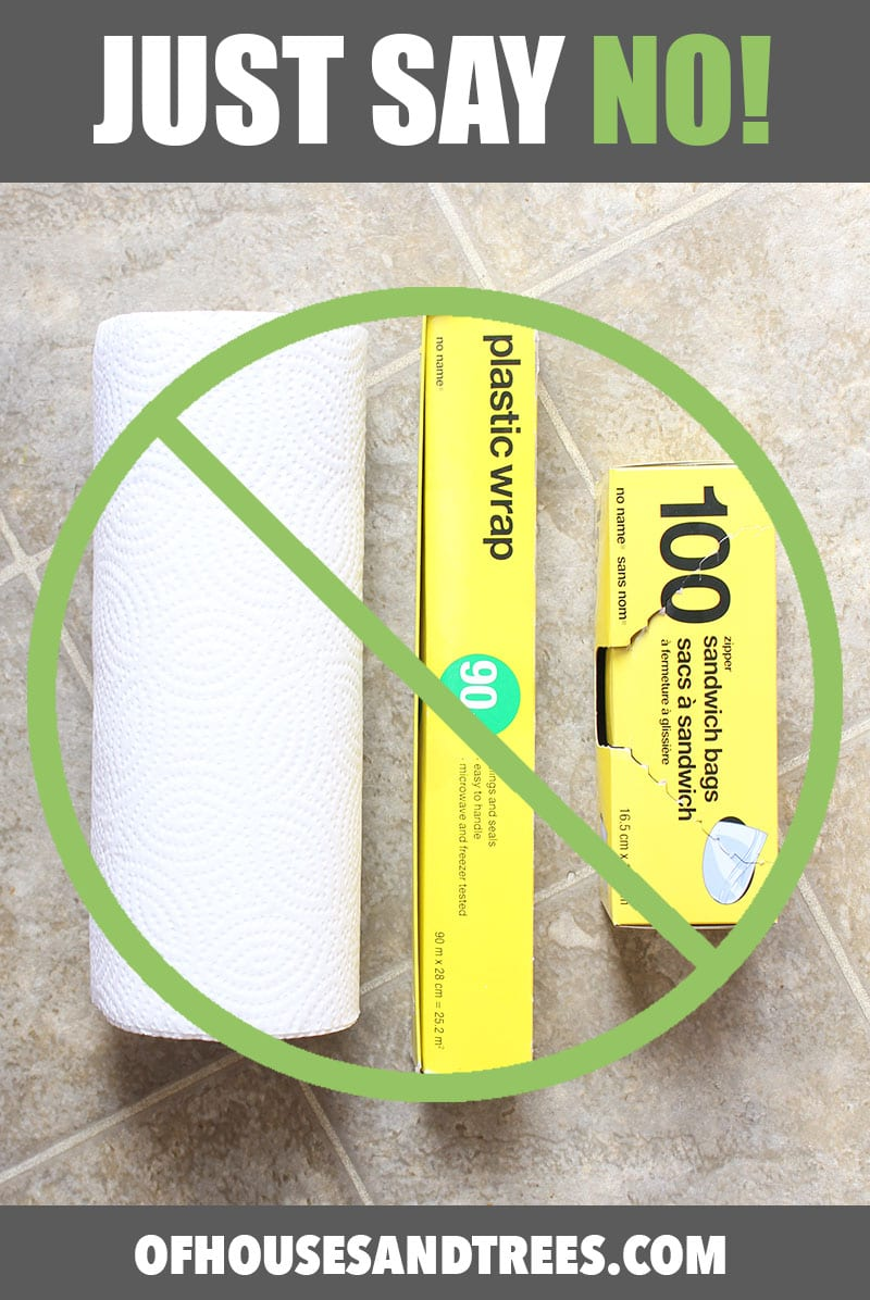 Green your home and save money by saying no to paper towel, plastic wrap and sandwich bags.