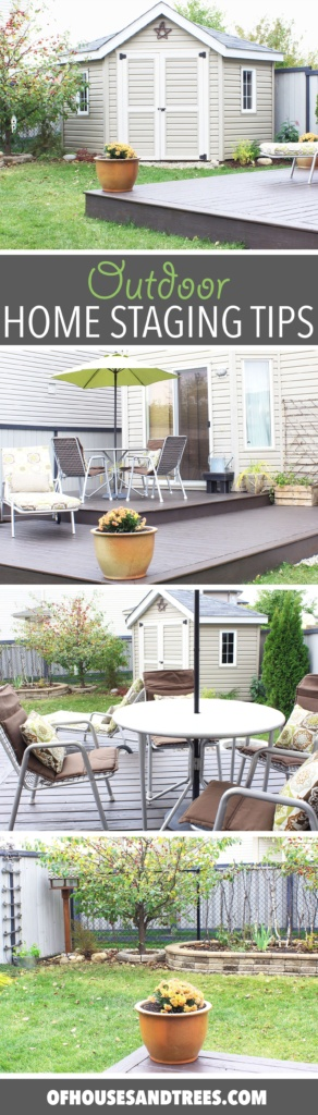 Home Staging Tips | When it comes to selling, your outdoor spaces need to be just as beautiful as your indoor spaces. Here are a few home staging tips focusing on the yard.