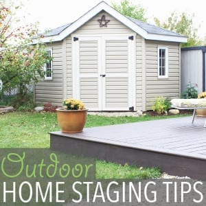 Outdoor Home Staging Tips + Our House in the Trees Update