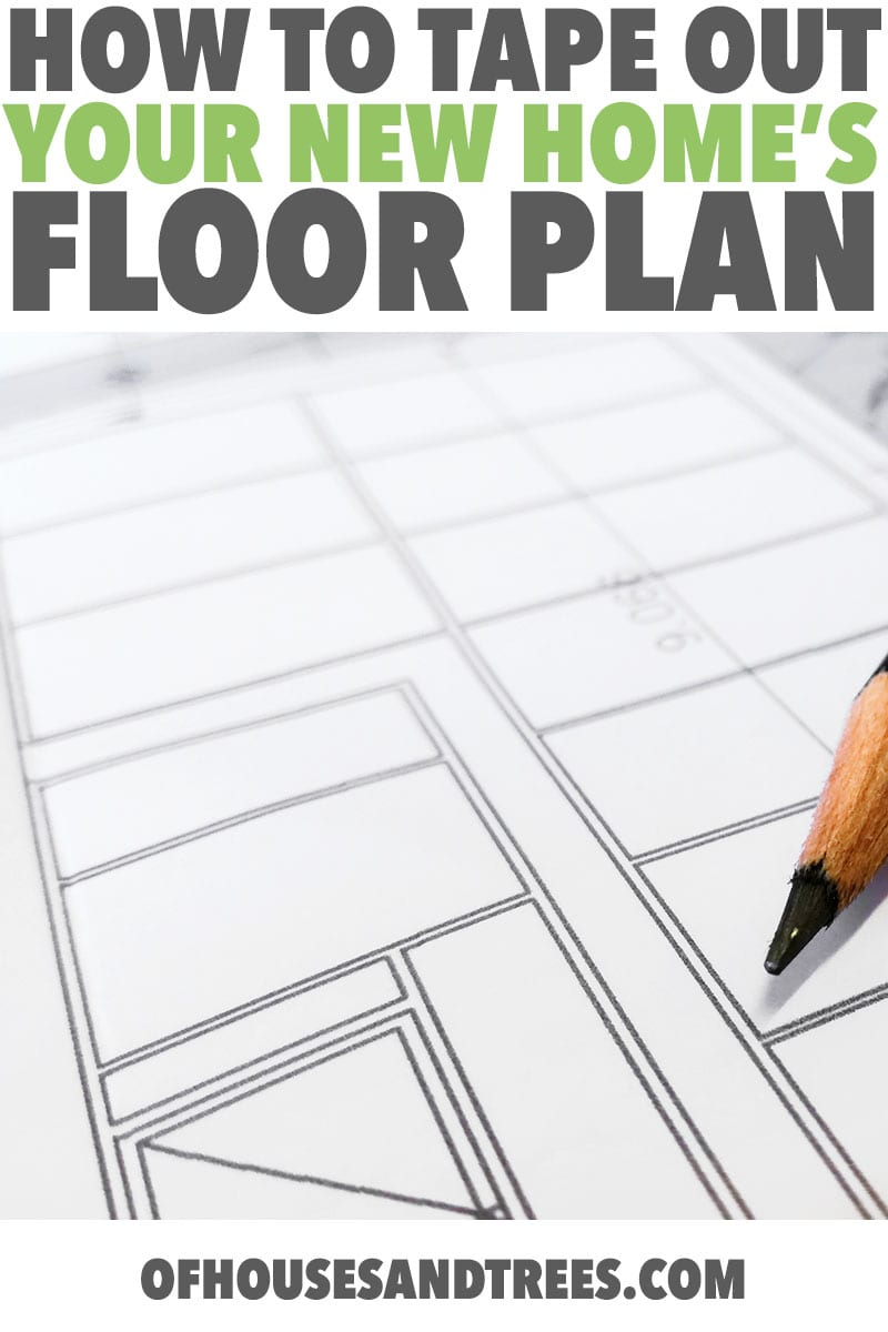 Laying Out a Floor Plan | Designing a house? What you see on paper and what you see in real life can be very different, which is why laying out a floor plan with tape is important.