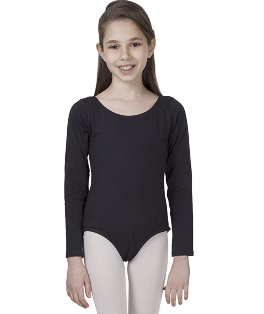 Want to be a green dancer? Consider investing in eco-friendly dance supplies such as this organic cotton kid's leotard by CAOMP.