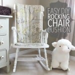 Prefer an old fashioned wood rocker to an oversized glider for your nursery? Learn how to make an easy DIY rocking chair cushion out of quilt batting.
