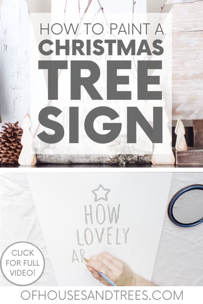 Looking for holiday decor projects? Try this Christmas tree sign, which uses eco-friendly materials and is just as green as a Christmas tree!