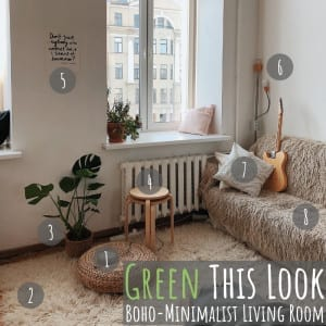 "Welcome to ""Green This Look,"" where I show you how to create an eco-friendly living room and offer some bohemian decor ideas - that are great for any space!"