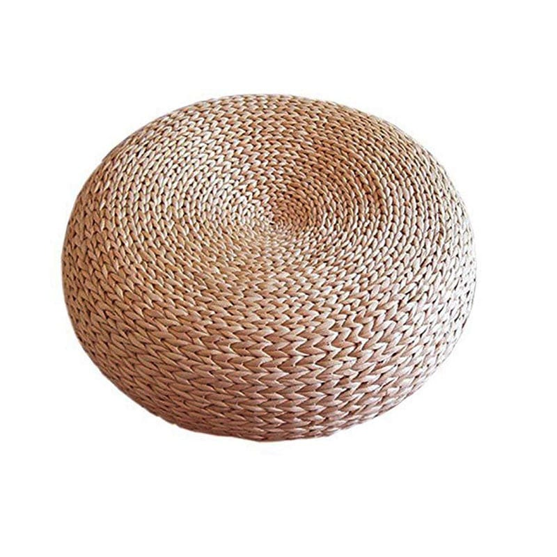 "Welcome to ""Green This Look,"" where I show you how to create an eco-friendly living room and offer some bohemian decor ideas - that are great for any space! Like this handwoven straw pouf."