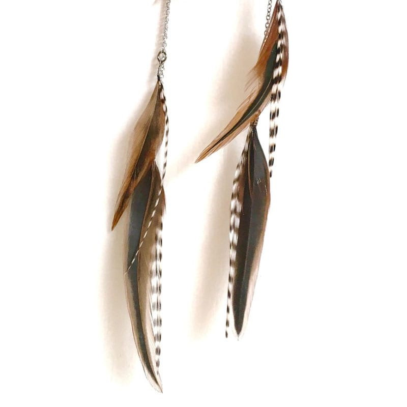 If you love nature and you love jewelry, then there's no question about it - you'll love these nine handmade pieces of nature-inspired jewelry! Like these handmade feather earrings.