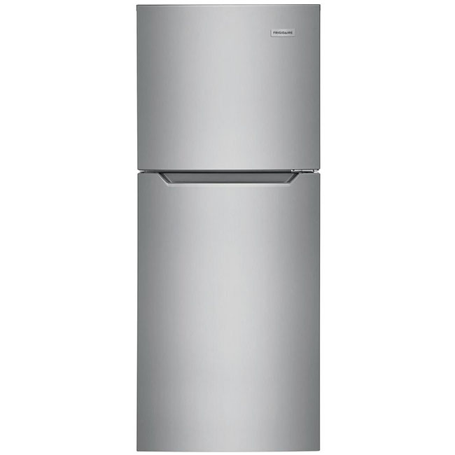 "What's an eco-conscious kitchen without an energy efficient fridge? This 24"" top freezer refrigerator by Frigidaire uses 297 kwH/yr."