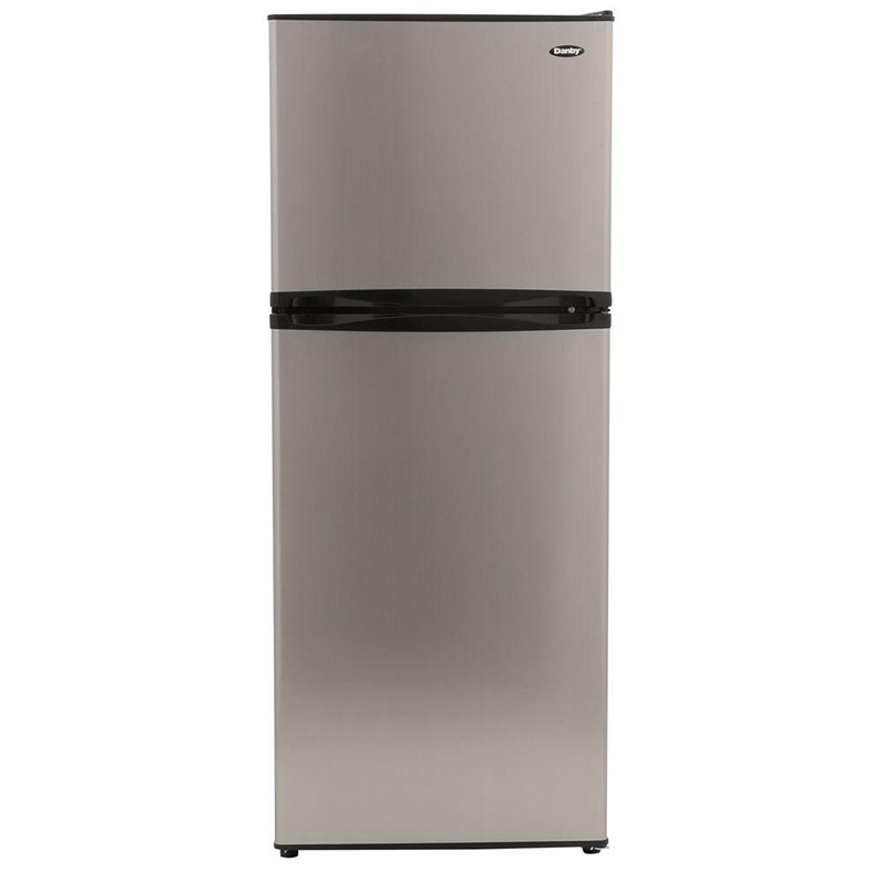 "What's an eco-conscious kitchen without an energy efficient fridge? This 24"" top freezer refrigerator by Danby uses 330 kwH/yr."