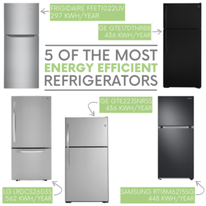 5 of the Most Energy Efficient Refrigerators