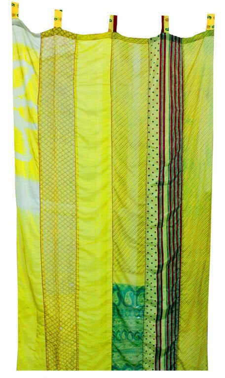 Greening an apartment isn't all that different from greening a house. Try out these eco-friendly apartment ideas, such as choosing sustainable furniture and decor - like these curtains made from recycled saris, which will help keep your apartment cool during the day.