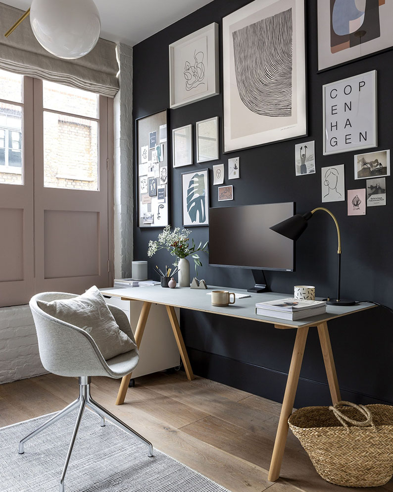 Want to create a minimalist home office like this one by Cate St Hill? Check out this shopping guide on Of Houses and Trees - featuring eco-conscious home office decor items from Etsy.