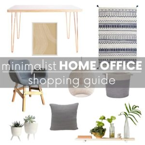 Minimalist Home Office Decor Shopping Guide