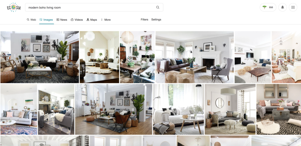 The Easiest Way to Create a Mood Board for Interior Design. STEP 8: You can also just do a plain old Google image search and see what comes up. (Or you can use Ecosia as your search engine instead. It works exactly the same as Google. But every time you search it helps plant trees!)