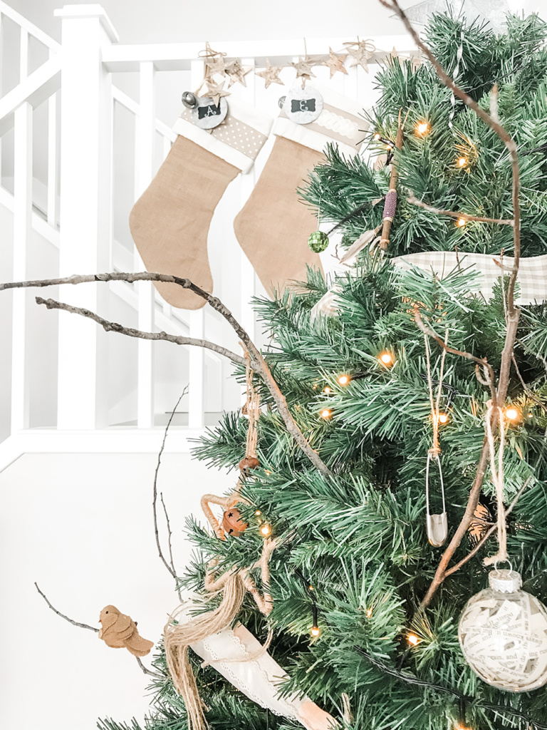 Want to create a lovely, calm space this holiday season? Here are three tips for incorporating simple and sustainable Christmas decor in your living room. third tip - bring in vintage and thrifted finds.